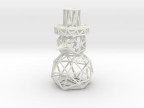 Snowman Christmas decoration Ornament in White Natural Versatile Plastic