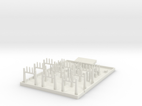 1/600 Large Power Substation in White Strong & Flexible