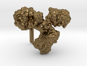 Antibody cufflink (surface) in Natural Bronze