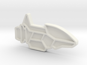 Ship #8 in White Natural Versatile Plastic