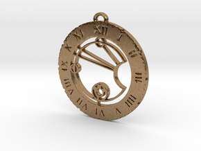 Lucie - Pendant in Natural Brass