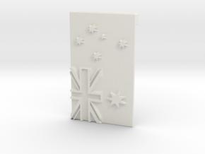 Australian Flag Belt Buckle in White Natural Versatile Plastic