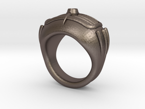'50s Car Ring (22.2mm) in Polished Bronzed Silver Steel