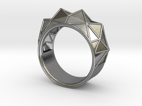 Hearst Tower Fantasy Ring in Polished Silver