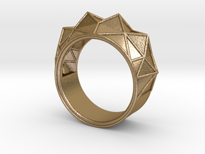 Hearst Tower Fantasy Ring in Polished Gold Steel