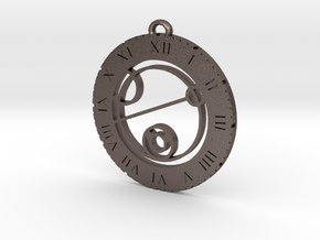Keith - Pendant in Polished Bronzed Silver Steel