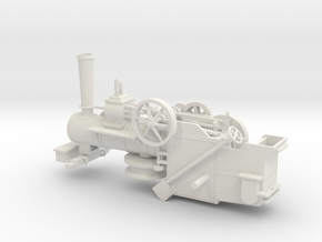 1005-0 Fowler Plough  Engine Body 1:43.5 O Scale in White Natural Versatile Plastic