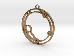 Ieuan - Necklace in Natural Brass