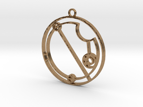 Elivia - Necklace in Natural Brass
