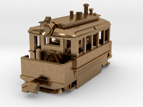 1001-2 Baldwin Steam Tram (Type A) 1:148 in Natural Brass