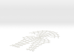 Spider-Man Face Webbing (fits kenlandrum print) in White Strong & Flexible