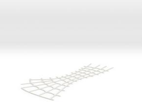 Spider-Man Left Back Head Webbing (fits kenlandrum in White Natural Versatile Plastic