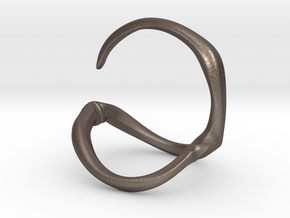 Para_Ring_Hook in Polished Bronzed Silver Steel