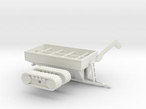 1:160/N-Scale Grain Cart On Tracks 1050 in White Natural Versatile Plastic