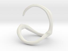 Para_Ring_Hook in White Natural Versatile Plastic