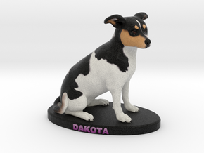 Custom Dog Figurine - Dakota in Full Color Sandstone