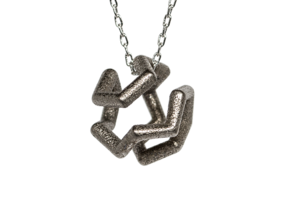 Icosian Pendant in Polished Nickel Steel