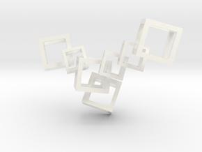 Modern Crystalline Necklace (Plastic) in White Processed Versatile Plastic