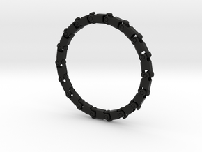 Bracelet V3 18seg Small in Black Natural Versatile Plastic