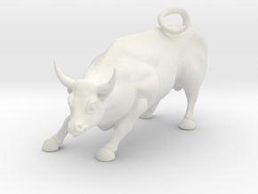 Charging Bull Statue Of Wall Street in White Natural Versatile Plastic
