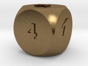 Multi-coloured Dice v1.0 in Natural Bronze