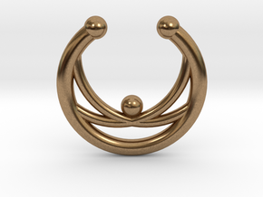 Faux Septum Ring - crisscross in Natural Brass