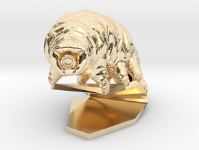 Tardigrade (Water Bear)  in 14K Yellow Gold