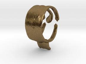 Cute Cat Ring in Natural Bronze