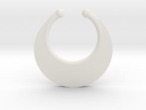 Faux Septum Ring - Crescent (small) in White Natural Versatile Plastic
