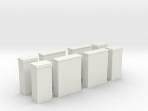Kabelboks til El og Tv x4 1/87 in White Natural Versatile Plastic