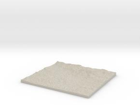 Model of Spodnji Brnik in Sandstone