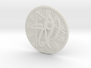 Game coin(Egypt) in White Natural Versatile Plastic