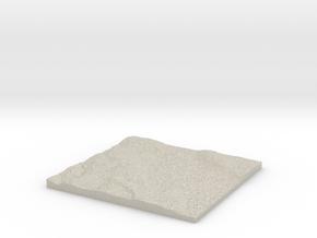 Model of Grænháls in Natural Sandstone