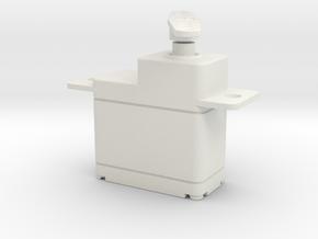 Servo Motor 1 in White Natural Versatile Plastic