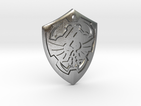 Hylian Shield - Legend of Zelda in Natural Silver