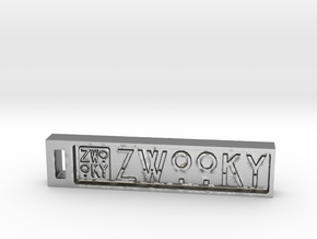 ZWOOKY Keyring 6cm 6mm in Raw Silver