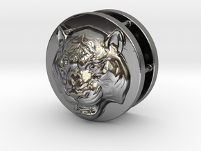 Tiger in Fine Detail Polished Silver