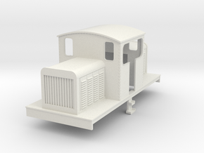 OO Freelance centercab diesel loco  in White Strong & Flexible