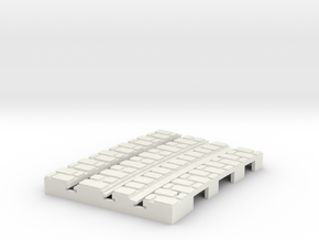 P-9-165st-short-250r-curved-outside-1a in White Natural Versatile Plastic