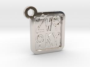 ZWOOKY Keyring LOGO 12 3cm 3mm negative in Platinum