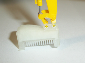 HO 1:87 excavator mulcher attachment in Smooth Fine Detail Plastic