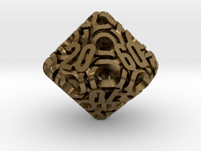 Ring d10 Decader in Natural Bronze