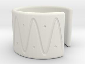 Ear Cuff - wave in White Natural Versatile Plastic