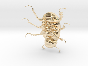 Dung Beetle in 14K Yellow Gold