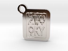 ZWOOKY Keyring LOGO 14 4cm 5mm negativ in Platinum