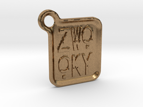 ZWOOKY Keyring LOGO 14 4cm 3mm rounded in Natural Brass