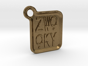 ZWOOKY Keyring LOGO 14 4cm 3mm rounded in Natural Bronze