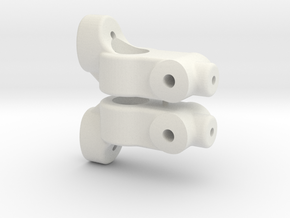 TC5 REAR HUB CARRIER - 2 DEGREE - INCH in White Natural Versatile Plastic