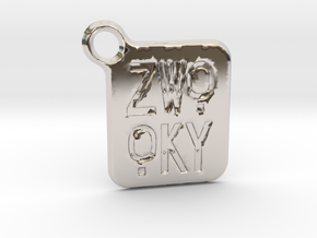 ZWOOKY Keyring LOGO 14 3cm 2mm rounded in Platinum