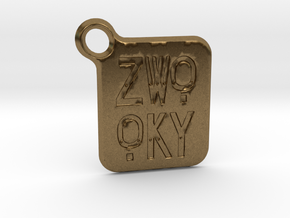ZWOOKY Keyring LOGO 14 3cm 2mm rounded in Natural Bronze
